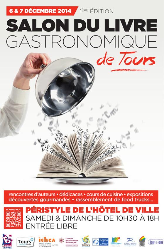 Affiche du Salon du Livre Gastronomique à Tours
