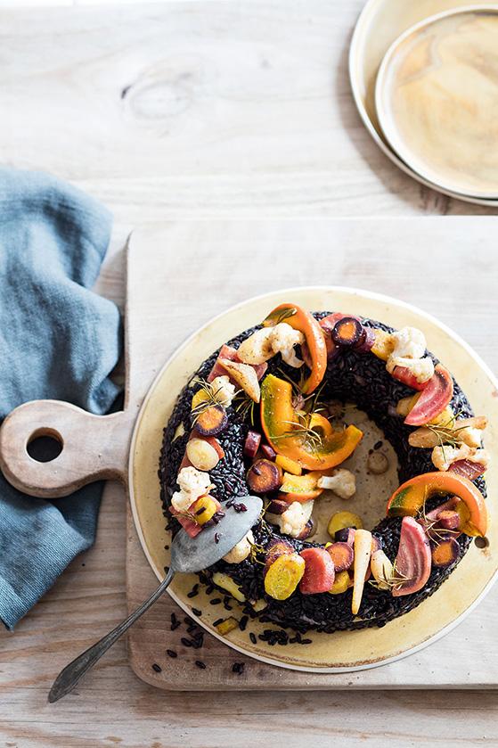 Riz noir aux légumes d'hiver, recette de Laura Zavan