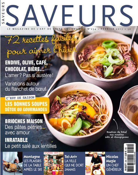 Couverture du magazine Saveurs de janvier 2017