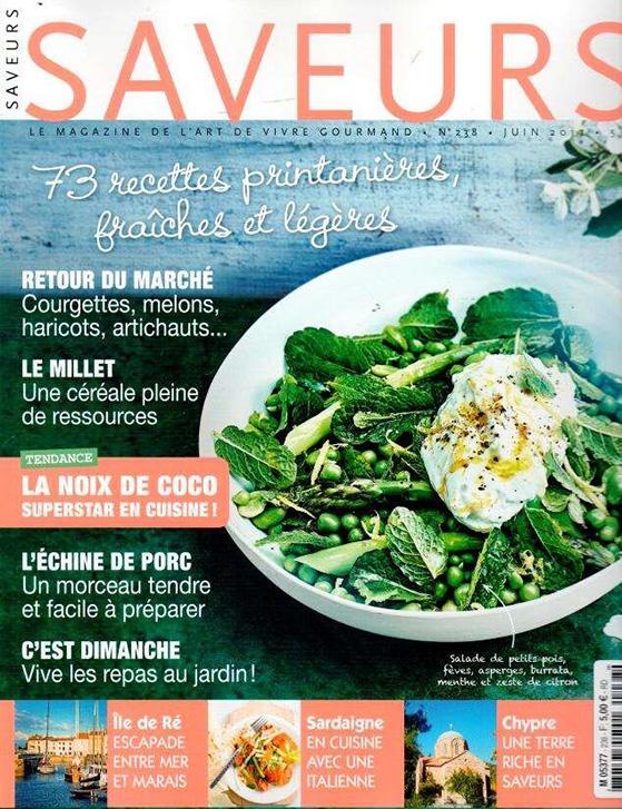 Couverture de Saveurs magazine n°238