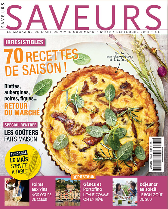 Saveurs n°249, couverture