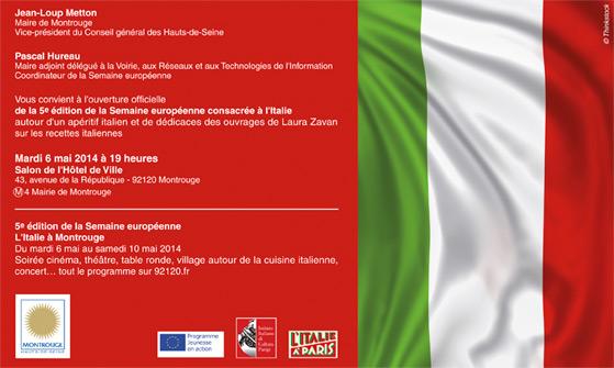 Semaine Européenne à Montrouge, l'invitation