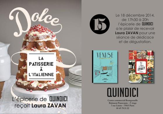 Invitation présentation de Laura Zavan chez Quindici