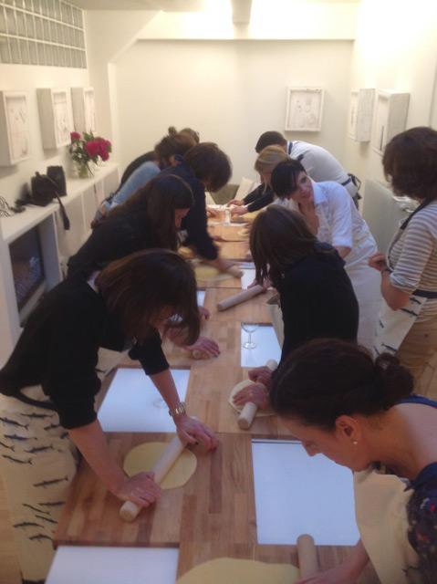 Participants à l'atelier tortellini