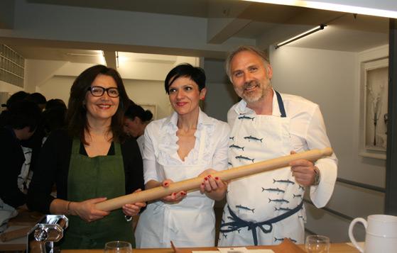 Laura Zavan, Katia Valentini et Mauro Bochicchio