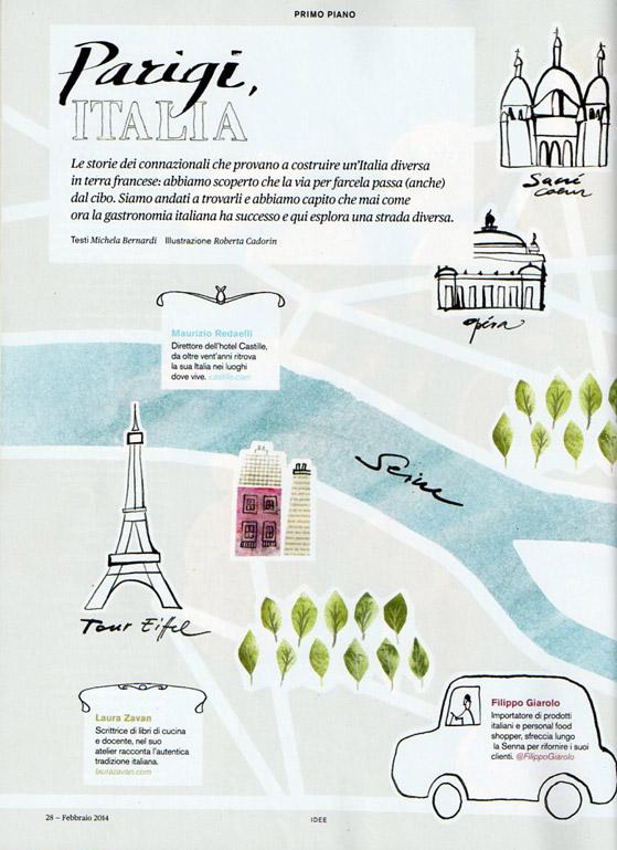 Parigi, Italia dans La Cucina italiana de fevrier 2014
