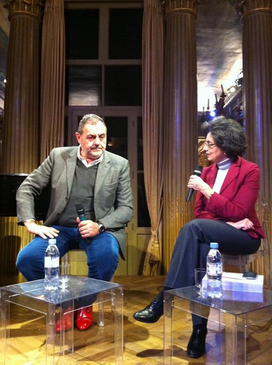 Gianfranco Vissani interviewé par Marina Valensise, la directrice de l'Institut