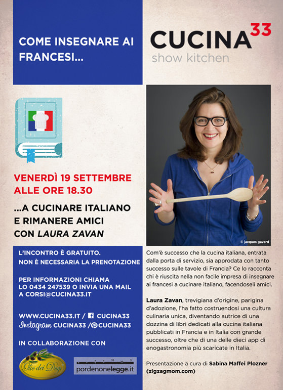 L'invitation pour la présentation de Laura Zavan à Pordenone Legge