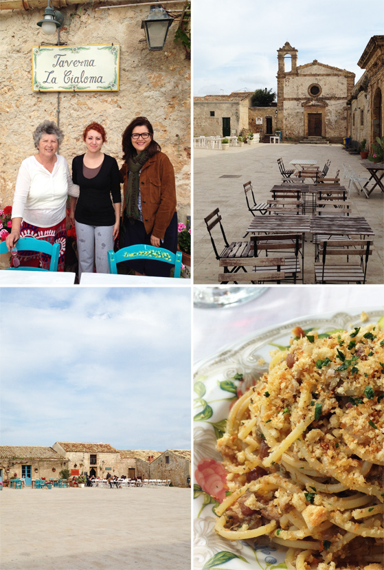 Le restaurant La Cialoma, sur la place de Marzamemi