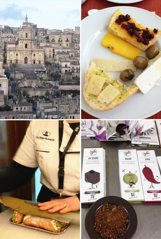 Dégustation de fromages et chocolat à Modica, en Sicile
