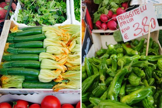 Marché de Venise, légumes