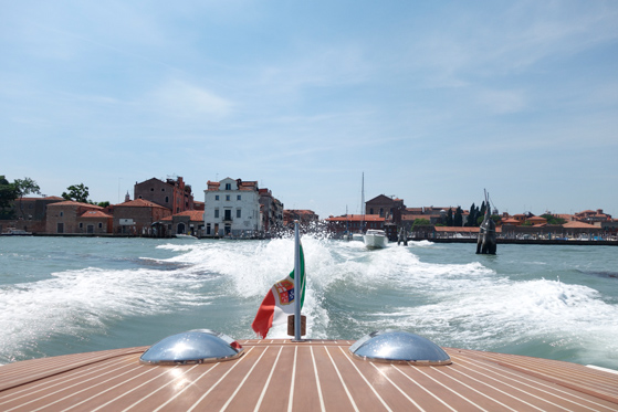 Vue de Venise du bateau