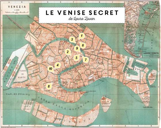 Carte de Venise, les adresses de Laura Zavan