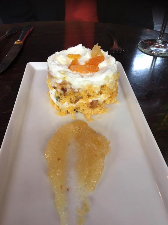 Panettone avec mascarpone et mostarda