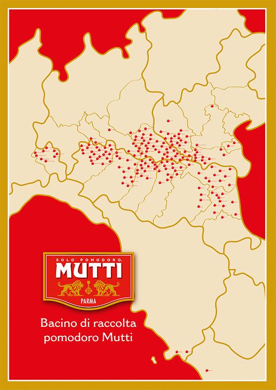 Carte des producteurs qui fournissent Mutti