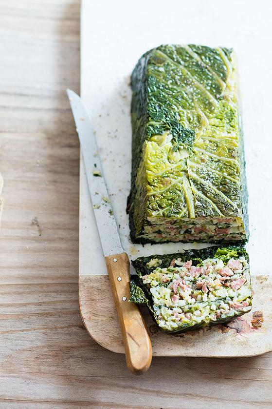 Pain de choux, riz et saucisse, recette de Laura Zavan