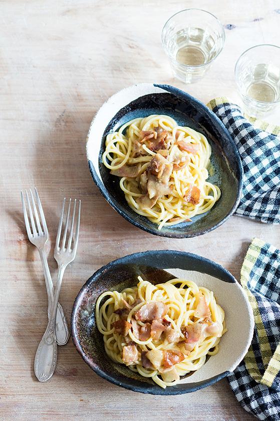 Spaghetti alla carbonara, recette de Laura Zavan