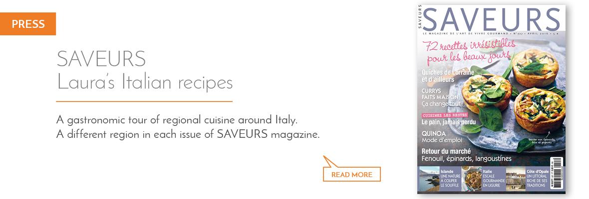 Laura Zavan's Italian regional recipes on Saveurs magazine