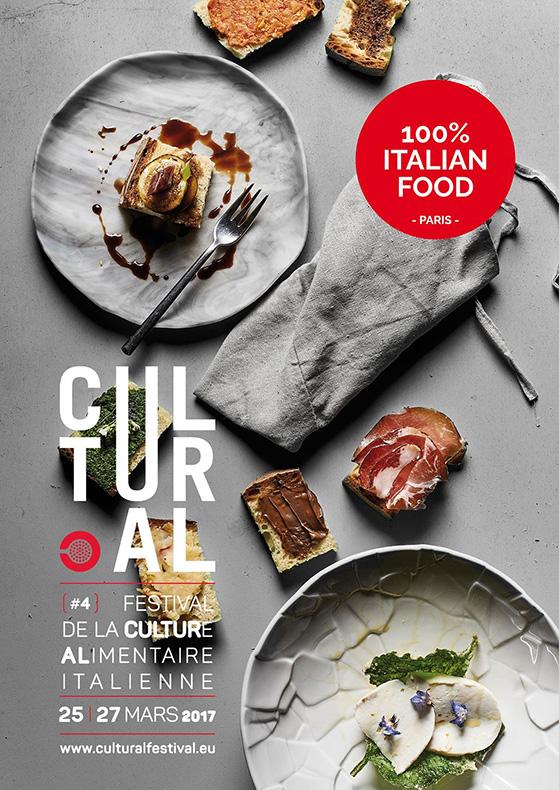 Affiche de Cultural 2017, festival de la culture alimentaire italienne