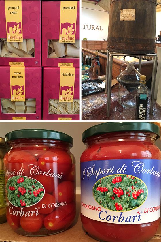 Pâtes artisanales, colatura di alici et tomates de Corbara