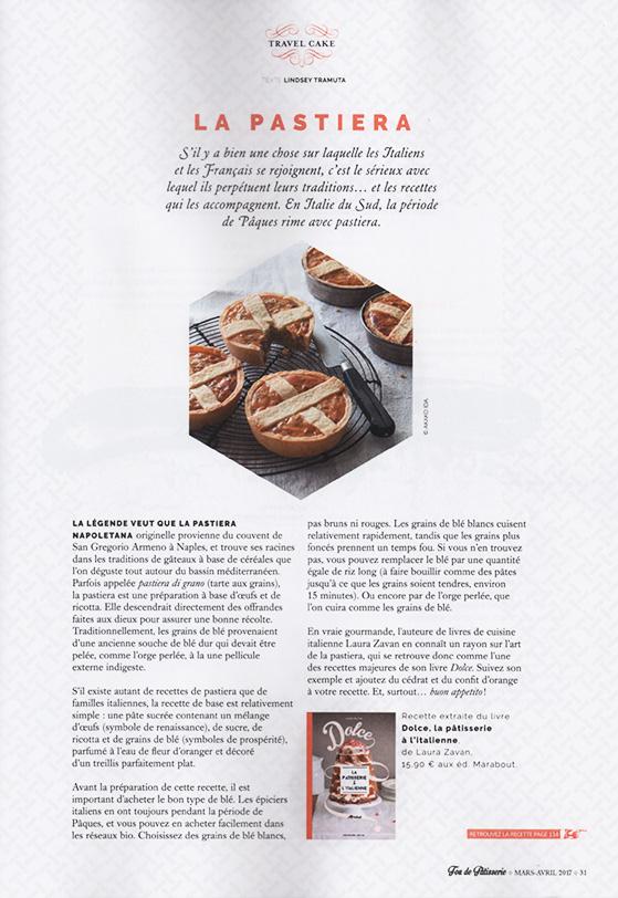 Pastiera dans le magazine Fou de Pâtisserie