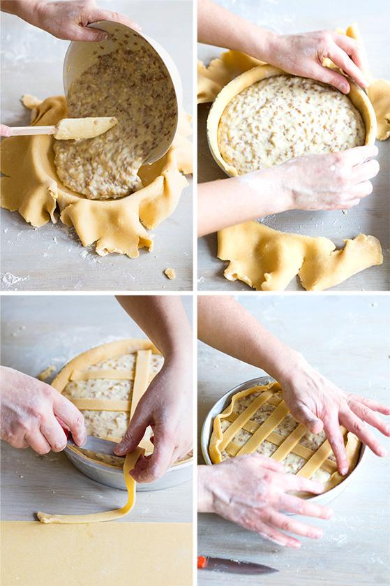 Finition de la pastiera napolitaine, recette de Laura Zavan