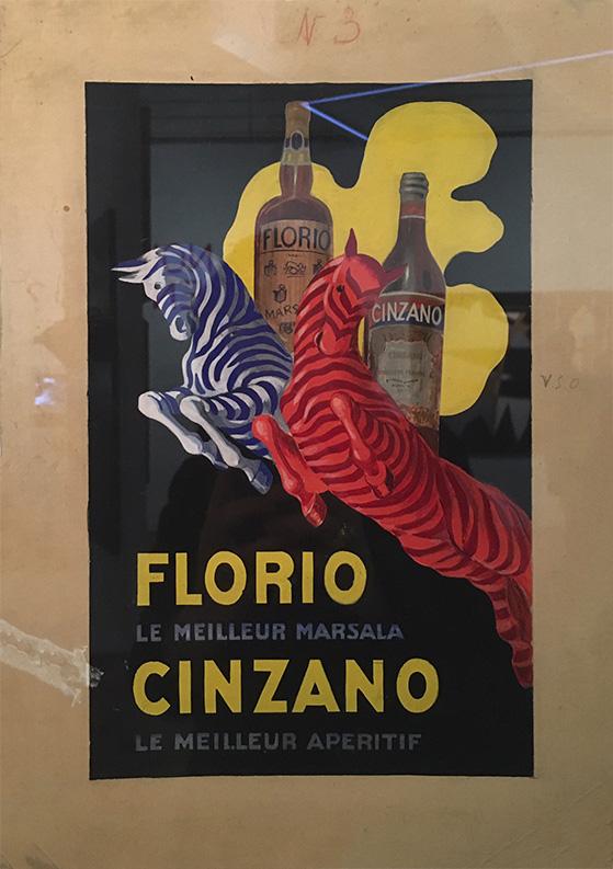 Affiche Florio et Cinzano