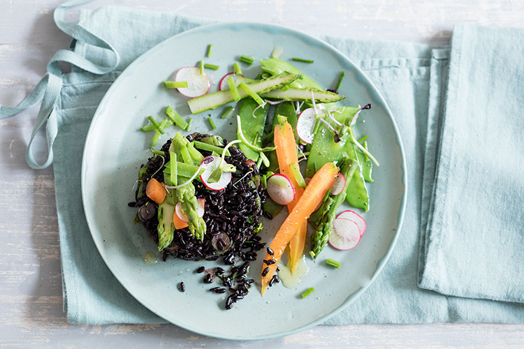 Riz noir de printemps, recette de Laura Zavan