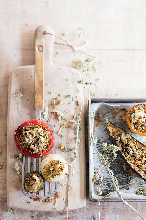 Legumes farcis, recette de Laura Zavan