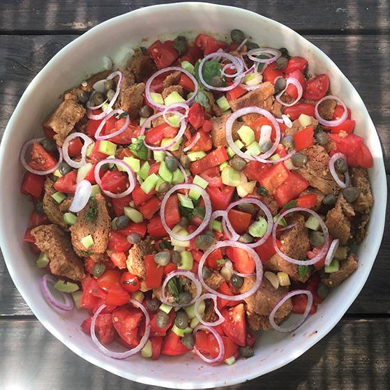 Panzanella, recette de Laura Zavan