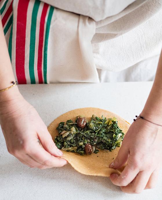 Calzone, garniture, recette de Laura Zavan