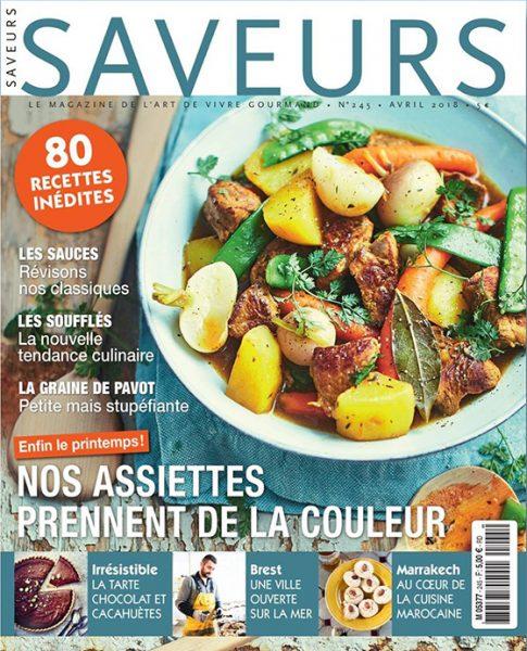 Couverture du magazine Saveurs n° 245