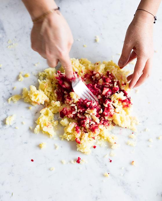 Gnocchi de betterave, preparation 1, recette de Laura Zavan
