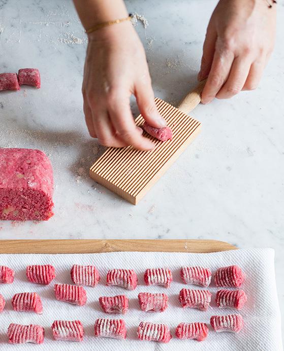 Gnocchi de betterave, preparation 3, recette de Laura Zavan