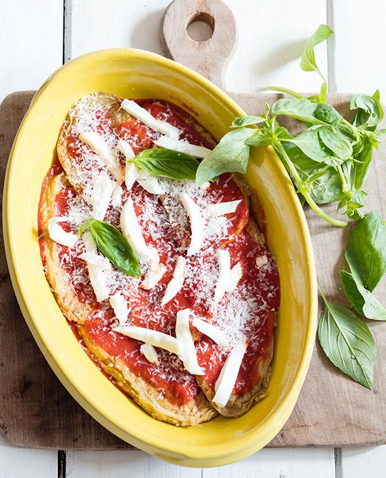 Aubergines à la parmigiana, recette de Laura Zavan