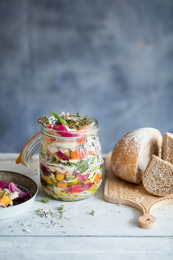 Lapin en conserve à l'huile d'olive, recette de Laura Zavan