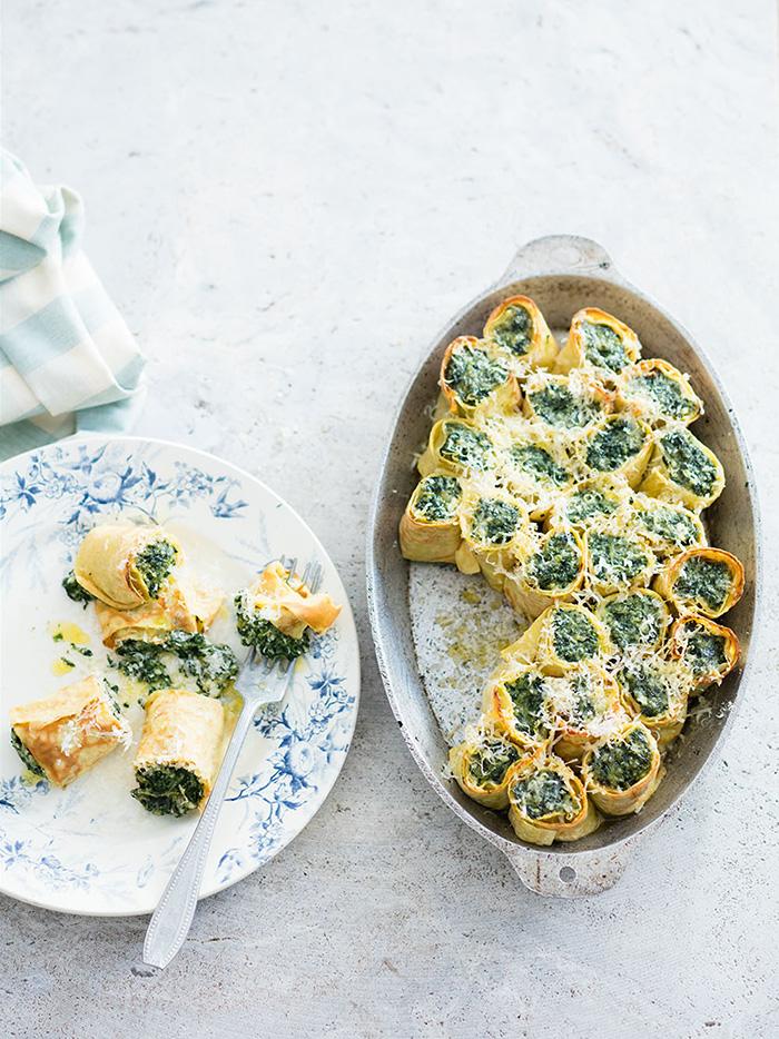 Crespelle aux épinards, recette de Laura Zavan