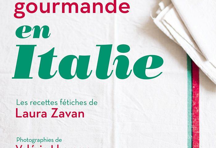 """Couverture livre """"Balade gourmande en Italie"""" par Laura Zavan"""