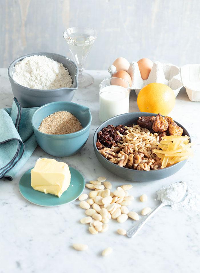 Ingrédients du gâteau zelten, recette de Laura Zavan