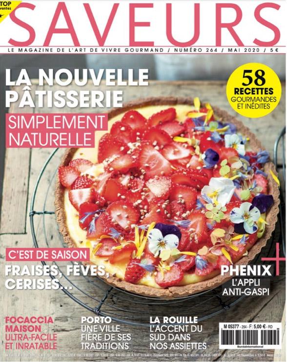 Saveurs magazine, couverture mai 2020
