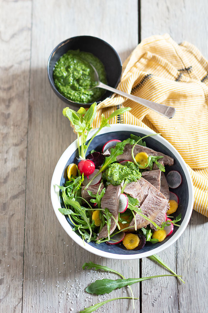 Boeuf en salade, recette de Laura Zavan