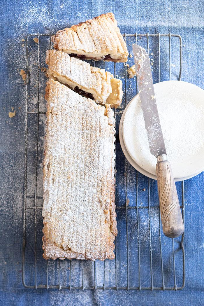 Tarte ricotta griottes, recette de Laura Zavan