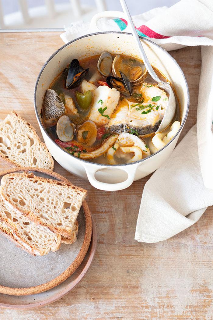 Brodetto de poissons, recette de Laura Zavan