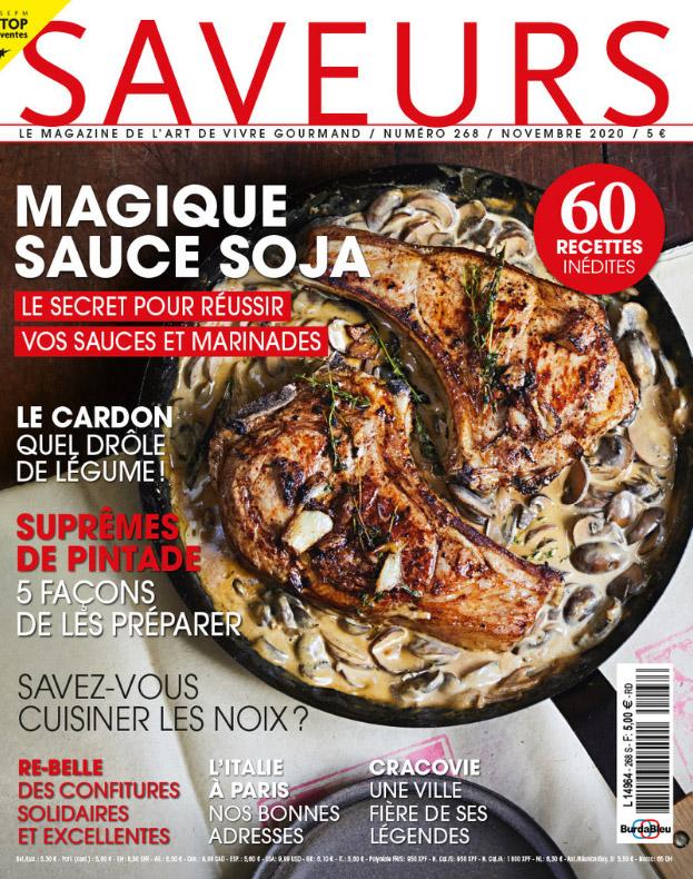 Couverture magazine Saveurs n°268