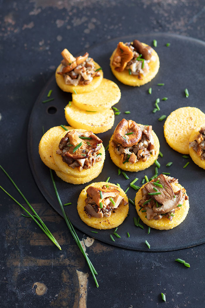 Polenta et champignon, recette de Laura Zavan