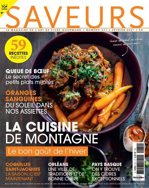Couverture de Saveurs Magazine n°271