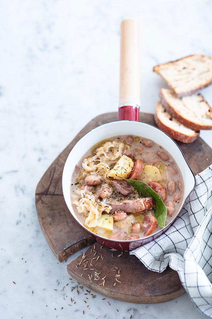Jota, soupe chou et haricots, recette de Laura Zavan