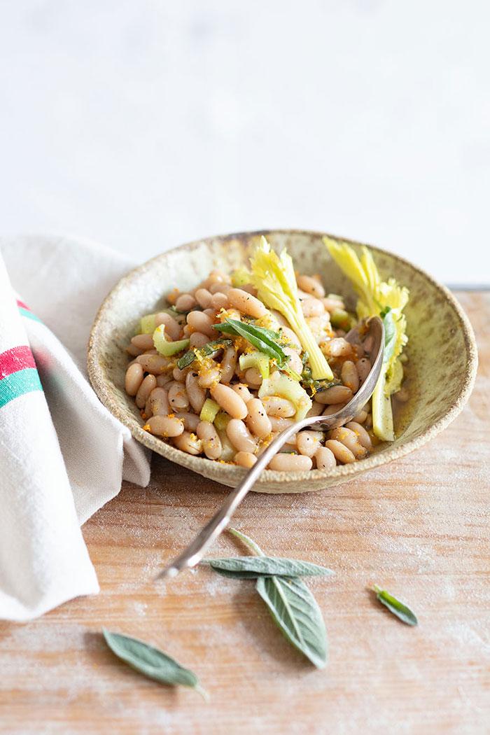 Salade d'haricots blancs, recette de Laura Zavan