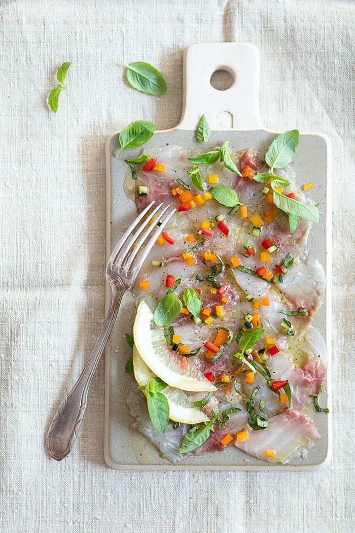 Carpaccio de poisson recette de Laura Zavan